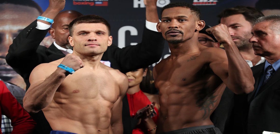 Daniel Jacobs vs Sergiy Derevyanchenko Weigh-ins