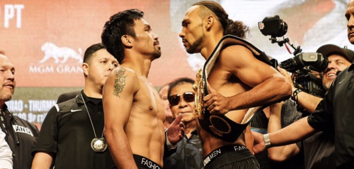 Manny Pacquiao vs Keith Thurman – Weigh In Results