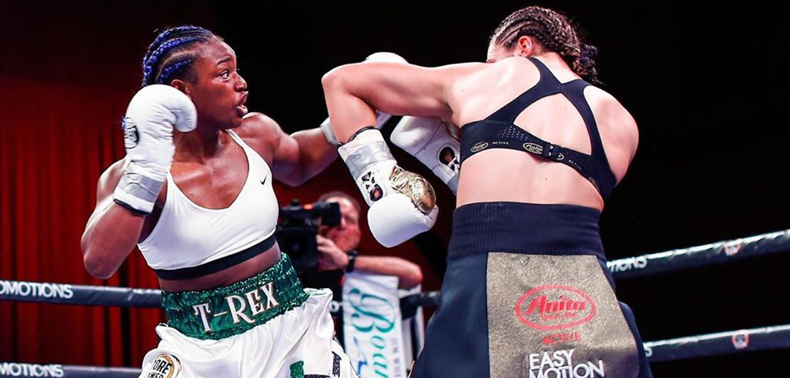 Claressa Shields defeated the previously unbeaten Christina Hammer
