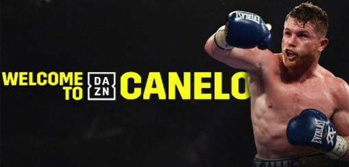 Canelo and Golden Boy Promotions Sing Partnership with Global Sports Streaming Leader DAZN