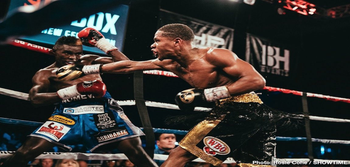 Devin Haney vs Xolisani Ndongeni Results
