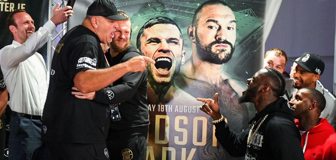 WBC Heavyweight Champion Deontay Wilder Crashes Tyson Fury's Weigh-in