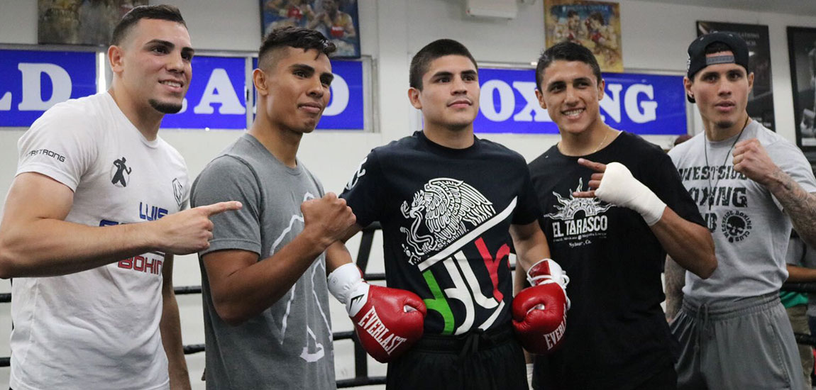 Diego de la Hoya and Mercito Gesta Los Angeles Media Workout Quotes