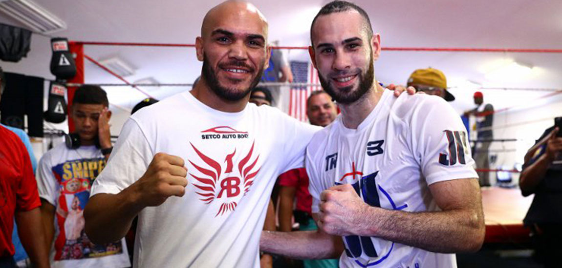 Ray Beltran – Jose Pedraza Work out for the Media